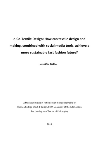 Fashion thesis pdf